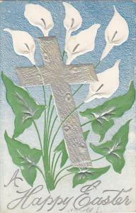 Easter Silver Cross with White Flowers 1908
