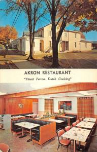 Akron Pennsylvania multi-views Akron Restaurant vintage pc ZA440512