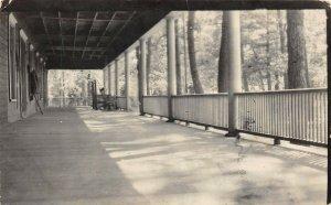 LPM45 Round Lake Hanover Wayside Inn   Michigan RPPC Postcard