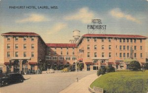 LAUREL, MS Mississippi PINEHURST HOTEL Roadside JONES CO  c1940's Linen Postcard