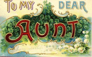 Greeting - To My Dear Aunt   (embossed)