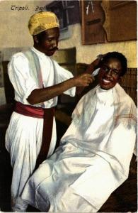 CPA Lehnert & Landrock Libya – Tripoli – Barbiere Arabo TUNISIE (855979)