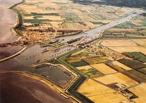 Netherlands Hansweert general aerial view, panorama