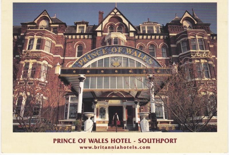 Post Card Lancashire Southport The Prince Of Wales Hotel Britannia Hotels