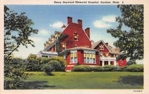 Henry Heywood Memorial Hospital, Gardner, Massachusetts, Early Postcard, Unused