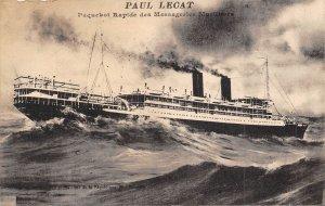 Steamer Paul Lecat Paquebot France 1910s postcard