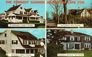 Cape Cod, MA, Kennedy Summer Homes, Multi View, 1965 Vintage Postcard g9102