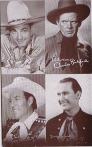 Vintage Cowboy Arcade Card Ray Corrigan Charles Bickford