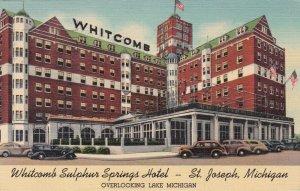 Michigan St Joseph Whitcomb Sulphur Springs Hotel 1939 Curteich sk227