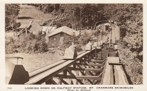 Looking Down On Halfway Station, Mt. Cranmore Skimobiles, North Conway, New H...