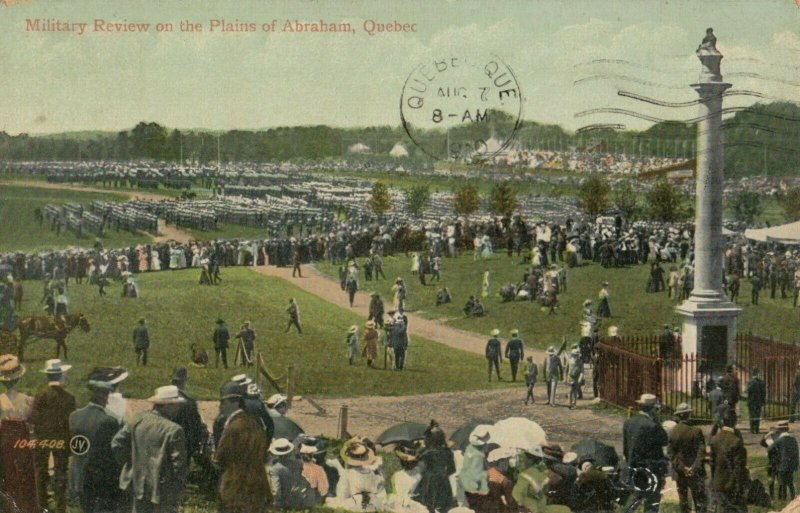 Military review on the Plains of Abraham, Quebec, Canada, 1910