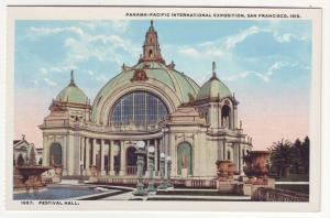 P356 JL, 1915 postcard panama-pacific expo festival hall san francisco calif