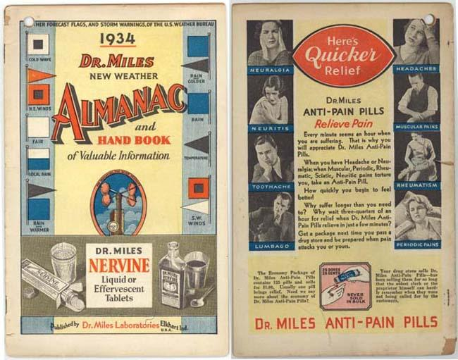 Elkhart, Ind, Dr. Miles New Weather Almanac, 1934