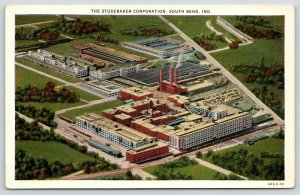 South Bend IN~Studebaker Corp (Now in Ruins, I Understand)~Birdseye View~1930 PC