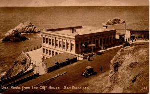 Seal Rocks from the Cliff House, San Francisco CA Vintage Photo Postcard G03