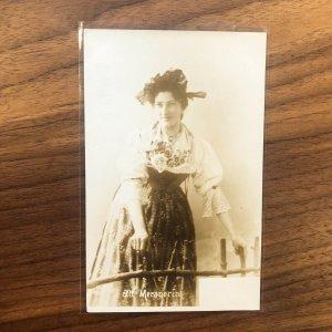 RPPC Photo Post Card Of Woman  GERMAN - FARM - RURAL DRESS 1910s 1920s Vintage
