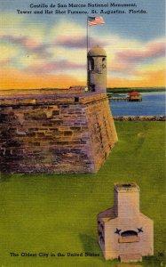FL - St Augustine. Castillo de San Marcos Tower & Hot Shot Furnace