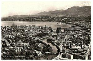 Lac Geneva & Ville Vue Geneva Suisse Carte Postale