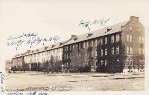 RP,Street view showing Barracks in Fort Lewis, Washington, 30-40s