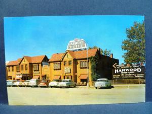 Postcard MO Camdenton Harwood Motor Lodge 1950's Old Cars