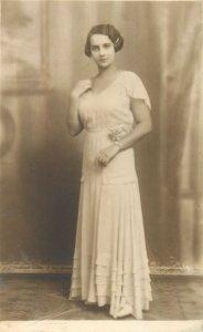 Postcard Social history woman portrait