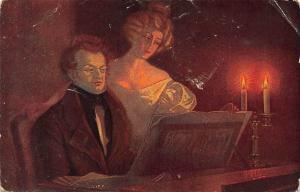 Schubert am Klavier, Franz Schubert, F. Ulreich, Postkarte, Postcard