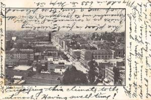 Los Angeles California panoramic birds eye view of area antique pc Y13730