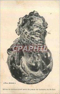 Postcard Old Pro Alesia Silene Bronze Served with balance Peson front view