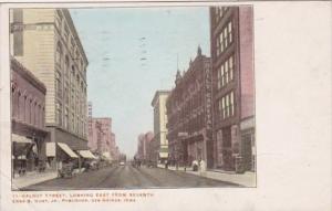 Iowa Des Moines Walnut Street Looking East 1907