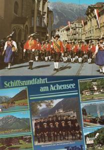 Tirol Military March Street Parade & Marine Uniform Group 2x Swiss Postcard s