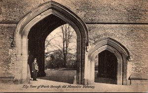 England Ely View Of Park Through Old Monastic Gateway