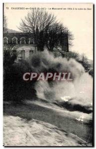 Old Postcard Caudebec en Caux The Bore in 1904 the Bac Cale