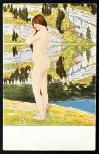 140503 Jules COUVOISIER Reflex Nude Female Jugend ART NOUVEAU German pc 1910s