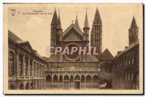 Old Postcard Tournai The Cathedral front view