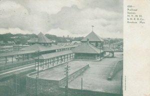 BROCKTON , Massachusetts, 1909 ; Railroad Train Station