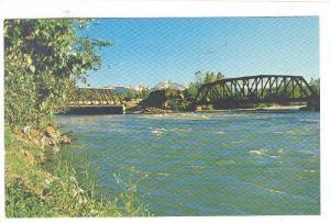 The Telkwa River Joins The Bulkley River, Telkwa, British Columbia, Canada, 1...