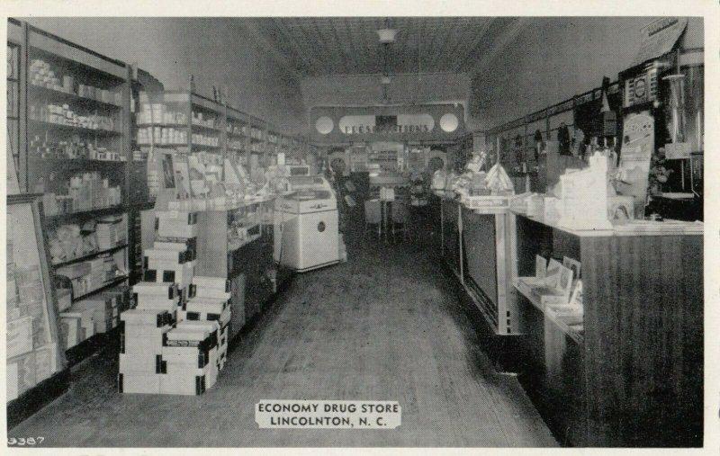 LINCOLNTON , North Carolina , 1930s ; Interior Economy Drug Store