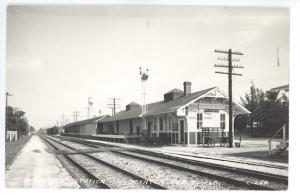 Boynton Beach FL Seaboard Railroad Station Train Depot RPPC Real Photo Postcard