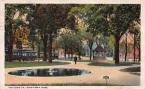 The Common, Leominster, Massachusetts, Early Postcard, Used in 1919