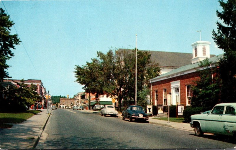Maryland Pocomoke City Market Street Showing Post Office and Business District