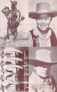 Bill Elliott, Rufe Davis, Charles Buck Jones Western Actor Mutoscope Unused
