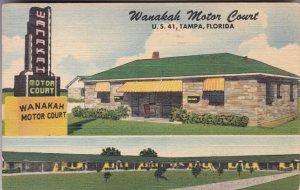Florida Tampa Wanakah Motor Court U S Highway 41 1950 sk2373