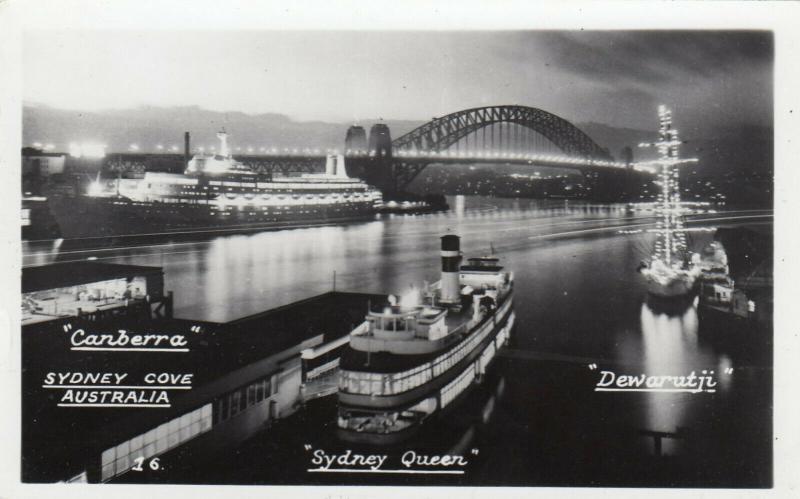 RP; Sydney , Australia , 30-50s ; Canberra, Sydney Queen & Dewarutji at piers