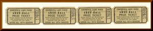 1974 Chippewa Lake Park Skee Ball Tickets, Chippewa Lake, Ohio/OH,Amusement Park