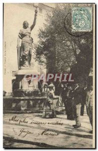Old Postcard Statue of Liberty Besse