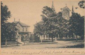 Lima NY, New York Saint Rose Church and Parochial Residence - pm 1908 - UDB