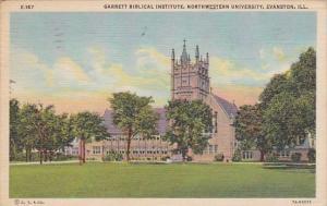Garrett Biblical Institute Northwestern University Evanston Illinois 1956