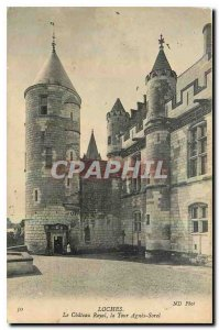 Old Postcard Loches The Royal Castle Tower Agnes Sorel
