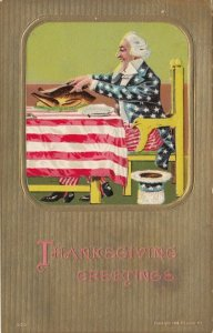THANKSGIVING, 00-10s ; Uncle Sam at the Table