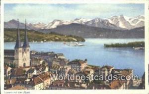 Luzern Swizerland, Schweiz, Svizzera, Suisse Mit den Alpen  Mit den Alpen